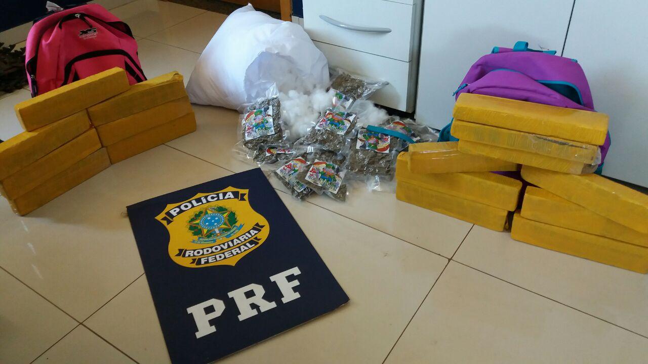 PRF apreende 238 quilos de cocaína avaliada em R$ 8,2 milhões
