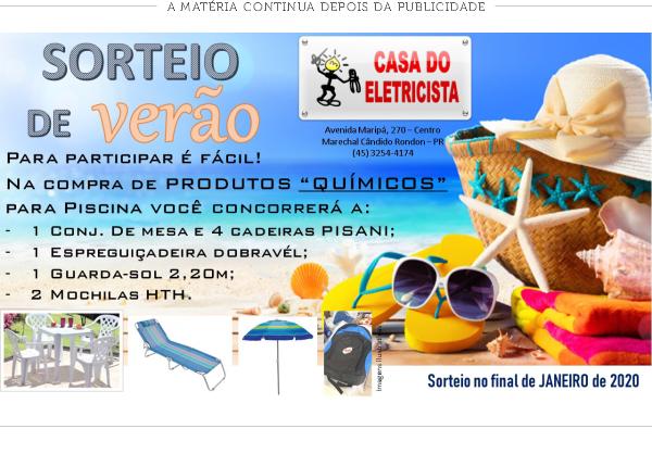 Casa do Eletricista SORTEIO DE VERÃO