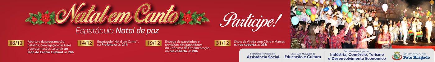 Pref. Pato Bragado Natal em Canto 2019